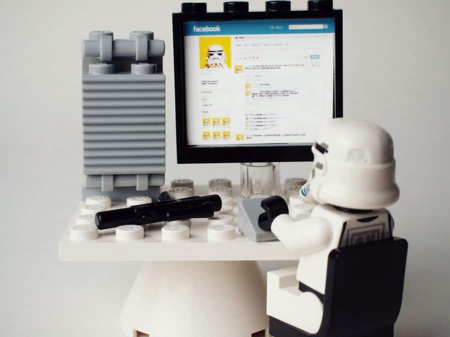 Facebook star trooper lego